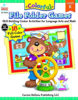 Colorful File-Folder Games Grade Kindergarten