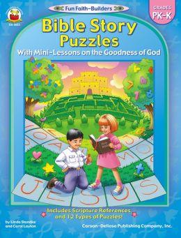 Bible Story Puzzles Grade Pk-k
