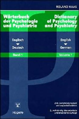 Dictionary of Psychology and Psychiatry: English-German