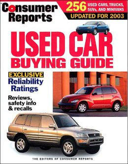 Consumer Reports Used Car Buying Guide, 2003