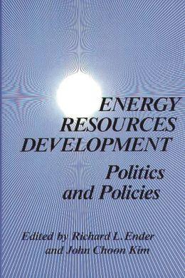 Energy Resources Development: Politics and Policies