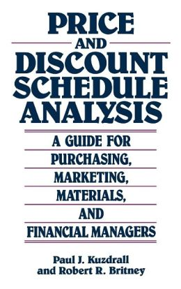 Price And Discount Schedule Analysis