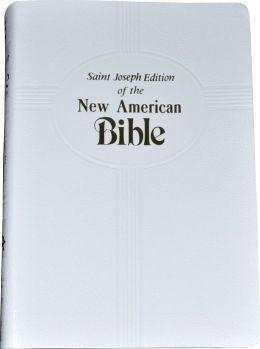 Saint Joseph Gift Bible, Medium Size Print Edition: New American Bible (NABRE), white imitation leather