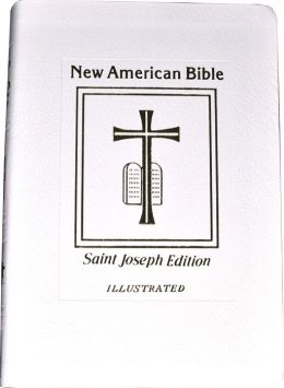 Saint Joseph Gift Bible, Deluxe Medium Size Print Edition: New American Bible (NABRE), white bonded leather