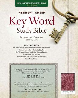 Key Word Study Bible NASB: Bonded Burgundy
