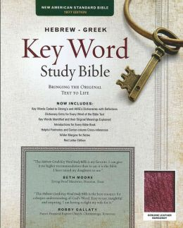 Key Word Study Bible NASB: Genuine Burgundy