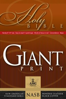 Giant Print Handy-Size Reference Bible: NASB 1977 Edition