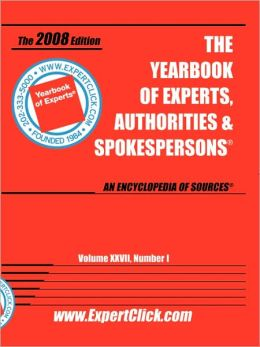 Yearbook of Experts 2008 First Edition