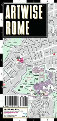 Artwise Rome Museum Map - Laminated Museum Map of Rome, Italy - Streetwise Maps