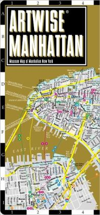 Artwise Manhattan Museum Map - Laminated Museum Map of Manhattan, NY - Streetwise Maps (2012)