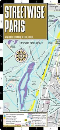 Streetwise Paris Map - Laminated City Center Street Map of Paris, France - Folding Pocket Size Travel Map With Metro (2014)