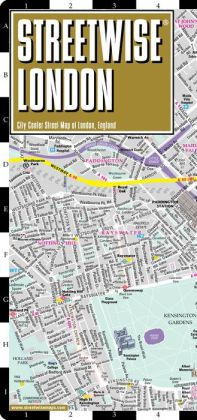 Streetwise London Map - Laminated City Center Street Map of London, England - Folding Pocket Size Travel Map With Metro (2014)