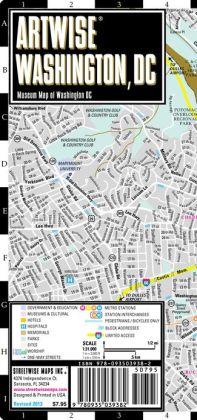 Artwise Washington DC Museum Map - Laminated Museum Map of Washington, DC - Streetwise Maps (2013)