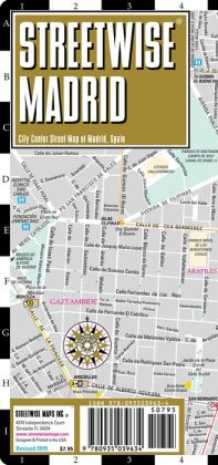 Streetwise Madrid Map - Laminated City Center Street Map of Madrid, Spain - Folding Pocket Size Travel Map With Metro (2015)