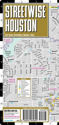 Streetwise Houston Map - Laminated City Center Street Map of Houston, Texas - Folding Pocket Size Travel Map With Metro (2013)