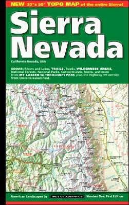 Sierra Nevada, California/Nevada Map