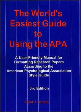 World's Easiest Guide to Using the APA