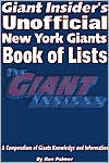 Giant Insider's New York Giants Book of Lists: The Giant Insider