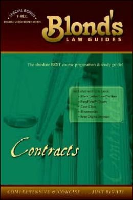 Blond's Law Guides: Contracts