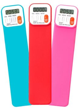 Mark-My-Time Assorted Bright Color Digital Bookmark