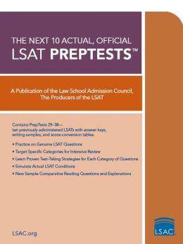 Next 10 Actual, Official LSAT Preptests
