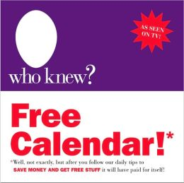 2011 Who Knew Free Box Calendar