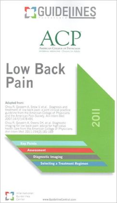 Low Back Pain GUIDELINES Pocketcard 2011