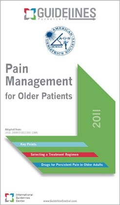 Pain Management for Older Patients GUIDELINES Pocketcard 2011