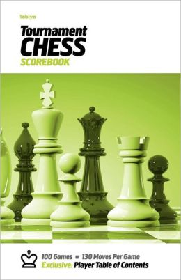 Tabiya Tournament Chess Scorebook: Cover Style: White with Green Graphic