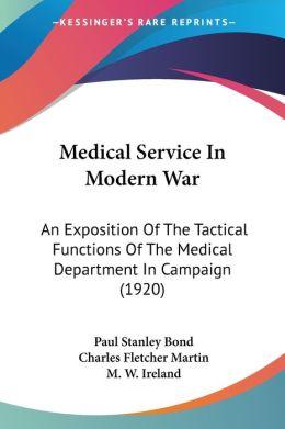 Medical Service In Modern War