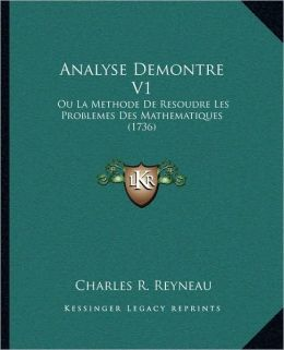 Analyse Demontre V1