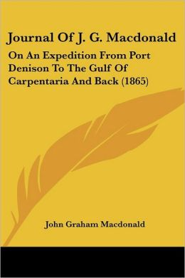 Journal Of J. G. Macdonald