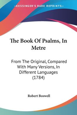 The Book Of Psalms, In Metre