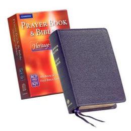 Heritage Edition Bible and Prayer Book Purple Calf Split CPKJ424