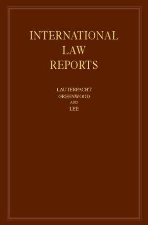 International Law Reports: Volume 161