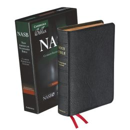 NASB Clarion Reference Black Goatskin NS486:XE