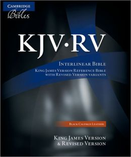 KJV/RV Interlinear Black Calfskin RV655:X