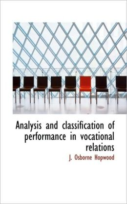 Analysis And Classification Of Performance In Vocational Relations