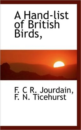 A Hand-List Of British Birds,