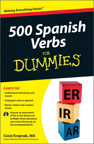 500 Spanish Verbs For Dummies (with CD)