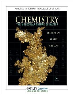 General Chemistry Abridged for The College of St Rose
