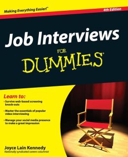 Job Interviews For Dummies Joyce Lain Kennedy