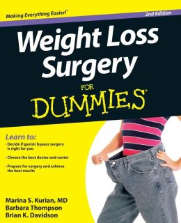 BARNES & NOBLE | Weight Loss Surgery For Dummies by Marina S. Kurian ...