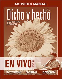 Activities Manual to accompany: Dicho en vivo: Beginning Spanish