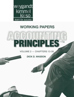 Accounting Principles, Working Papers Volume II