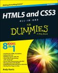 Book Cover Image. Title: HTML5 and CSS3 All-in-One For Dummies, Author: Andy Harris