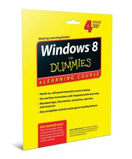 Windows 8 For Dummies eLearning Course Access Code Card (6 Month Subscription)