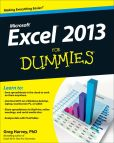 Book Cover Image. Title: Excel 2013 For Dummies, Author: Greg Harvey