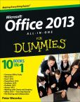 Book Cover Image. Title: Office 2013 All-In-One For Dummies, Author: Peter Weverka
