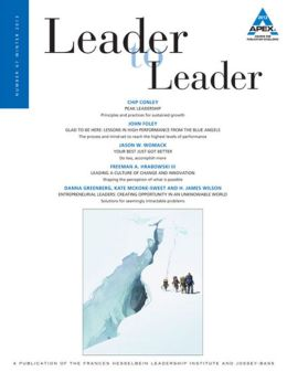 Leader to Leader (LTL), Winter 2013